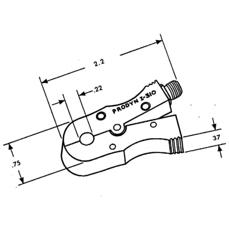 Prodyn current probe I300 series outline drawing