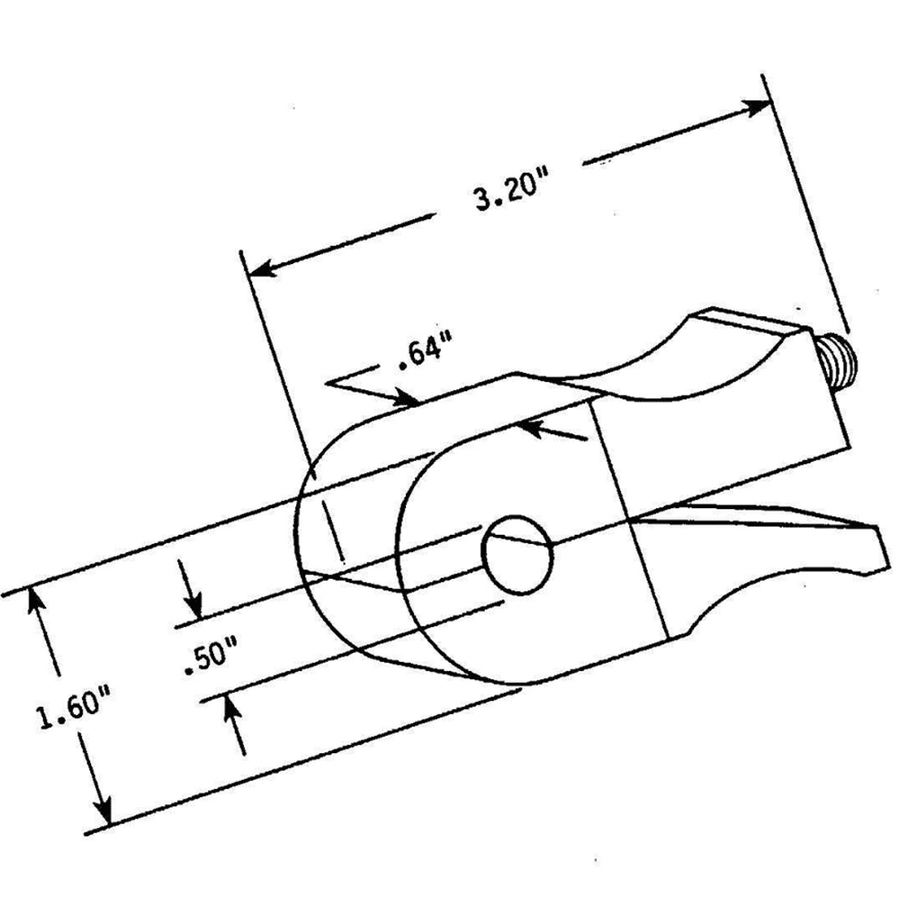 Prodyn current probe I400 series outline drawing