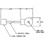 Prodyn current probe IP2 HF series outline drawing