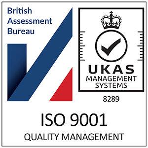 UKAS ISO-9001 certification badge