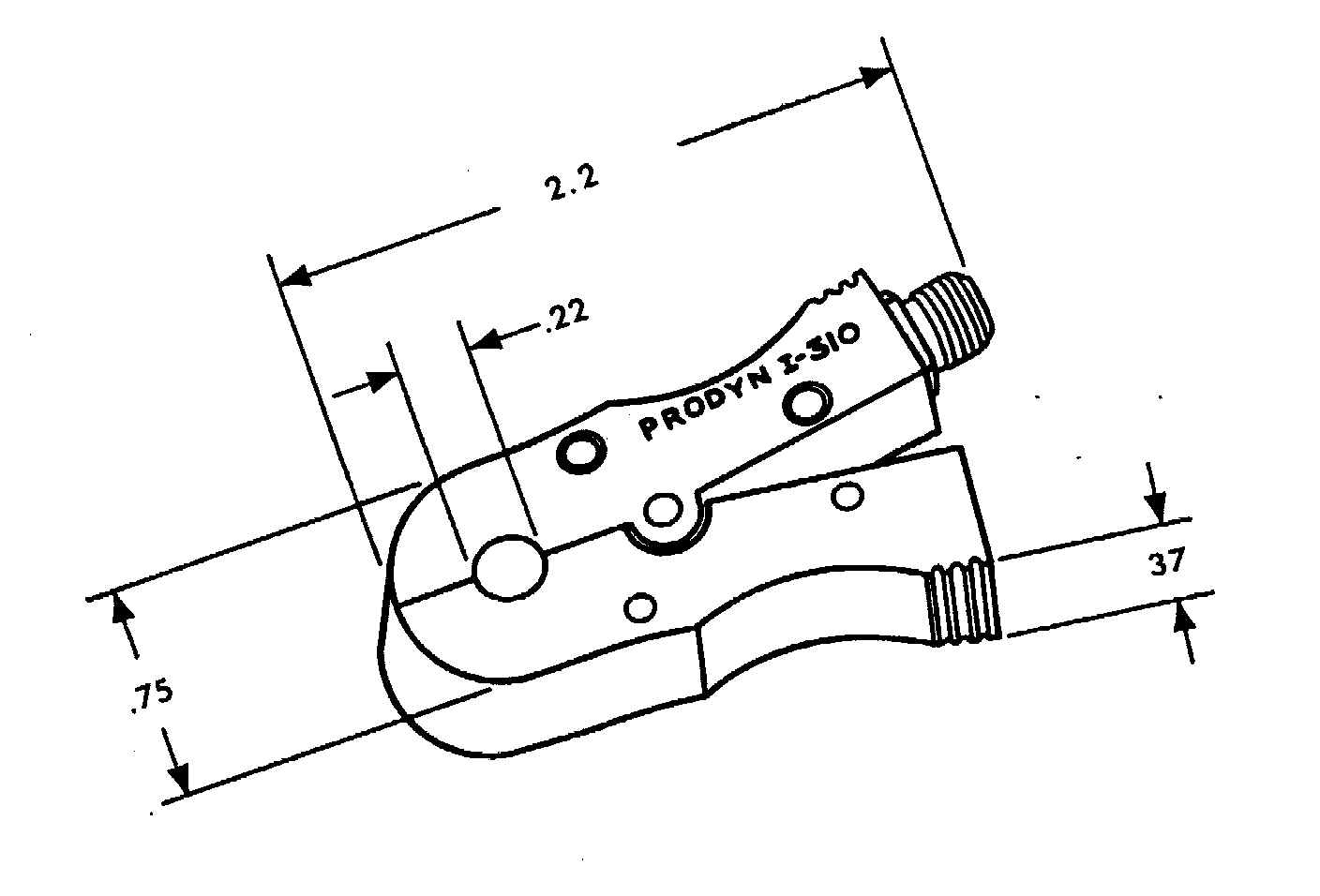 Prodyn current probe I262 series outline drawing